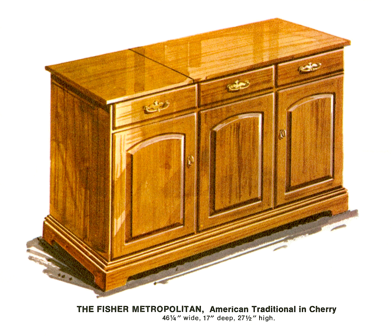 1967 Fisher M-4592-AT Metropolitan American Traditional Console